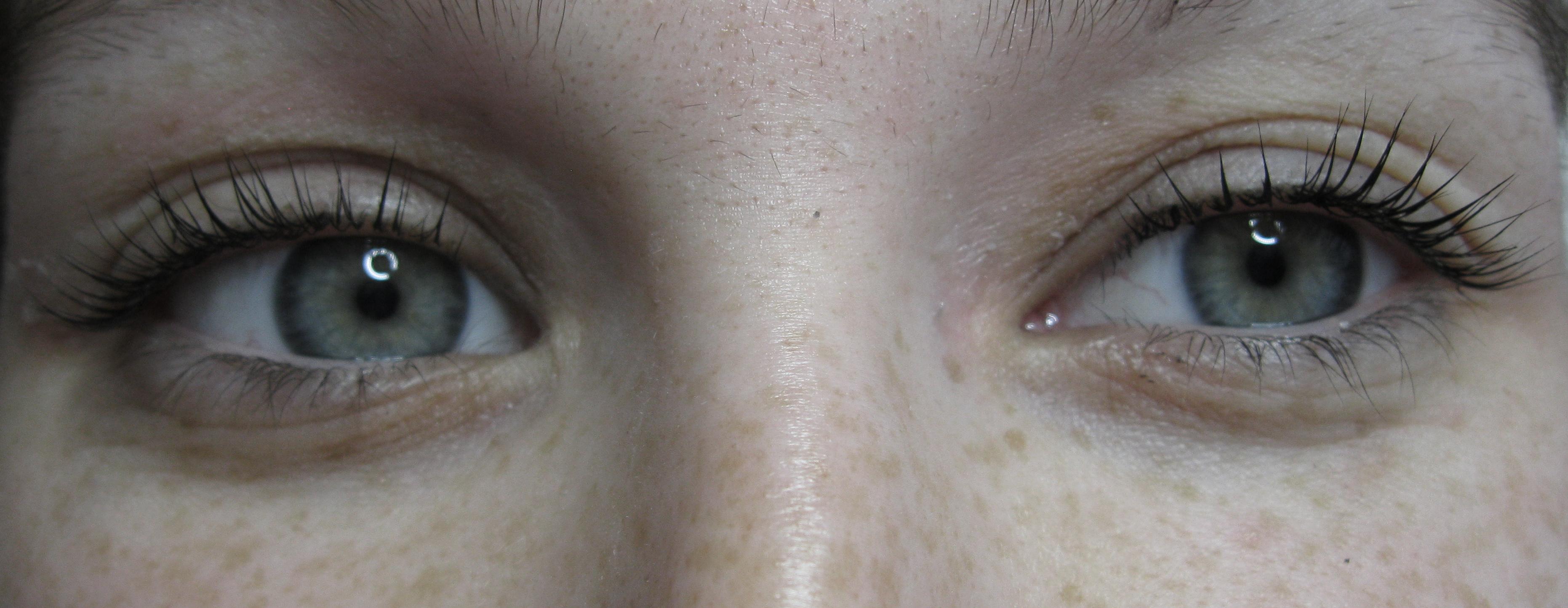 Szempilla lifting után - Soós Ágnes kozmetikus